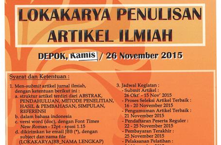 Lokakarya Penulisan Jurnal Ilmiah