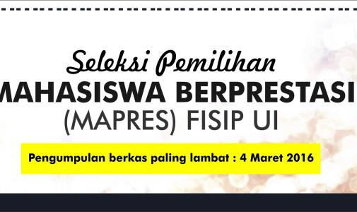 Seleksi Pemilihan Mahasiswa Berprestasi FISIP UI