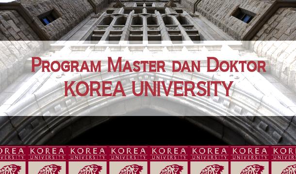 (Indonesia) Program Master dan Doktor Korea University