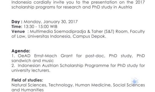 Program Beasiswa Penelitian dan Doktor di Austria