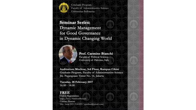 Undangan Seminar Mahasiswa Program Pascasarjana UI