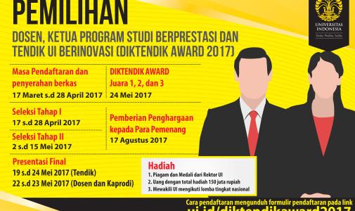 Pemilihan Dosen, Ketua Program Studi dan Tenaga Pendidik UI Berinovasi 2017