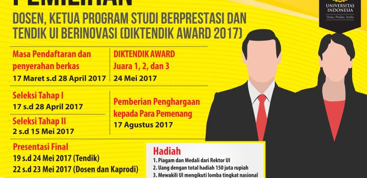 (Indonesia) Pemilihan Dosen, Ketua Program Studi dan Tenaga Pendidik UI Berinovasi 2017